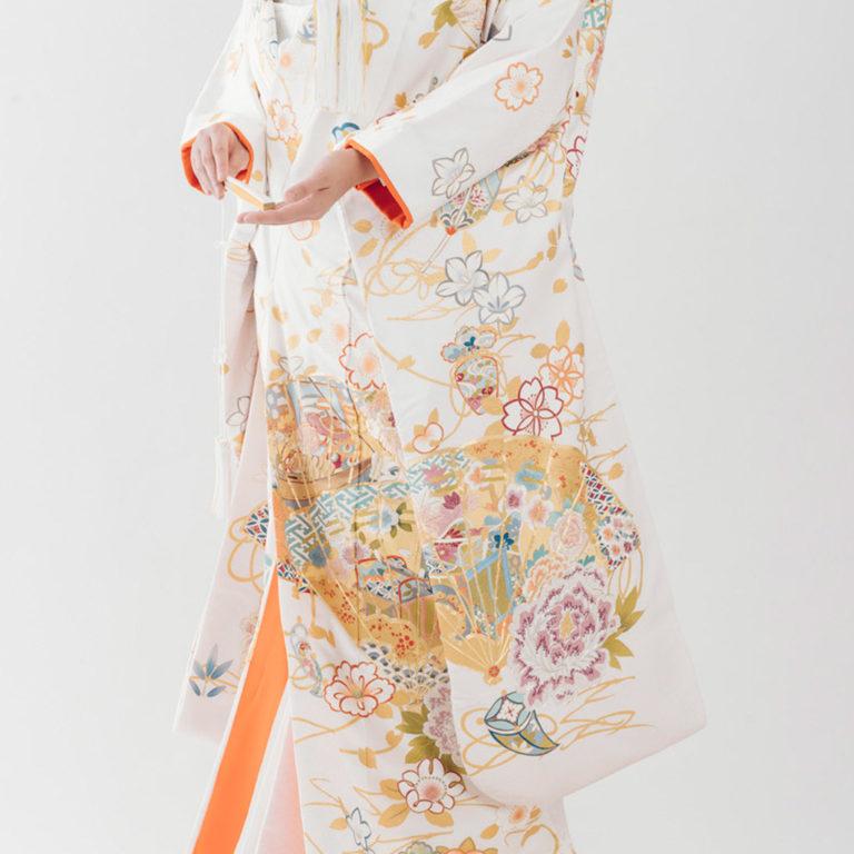手刺繍 檜扇宝寿の讃